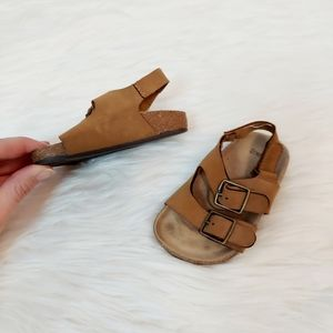 Gymboree baby brown buckle sandals